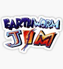 Earthworm Jim (SNES) Title Screen Sticker