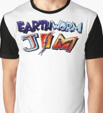 Earthworm Jim (SNES) Title Screen Graphic T-Shirt