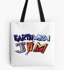 Earthworm Jim (SNES) Title Screen Tote Bag
