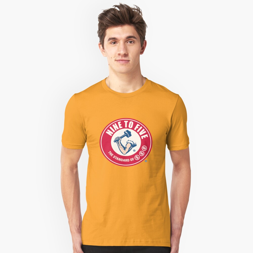 9 to 5 Arm and Hammer logo Unisex T-Shirt Front