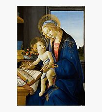 The Virgin and Child (The Madonna of the Book) by Sandro Botticelli (1480) Photographic Print
