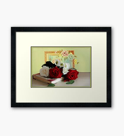 Roses and Lithianthus Framed Print