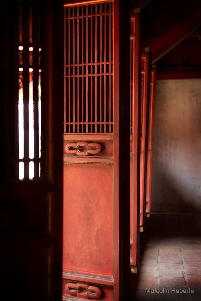 Door's to Shrine to Confucius - Hanoi - Vietnam by Malcolm Heberle