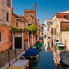 A Quiet Canal in Venice, Italy by Daniel H Chui