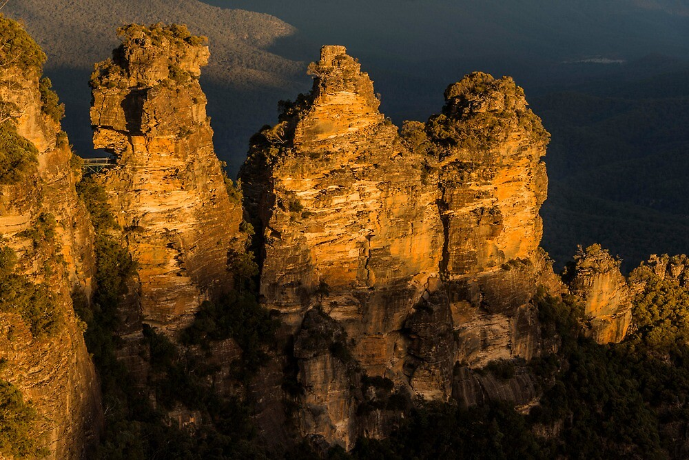 Three Sisters at sunset by KeithMcInnes