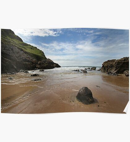 Mewslade Bay - Wales Poster