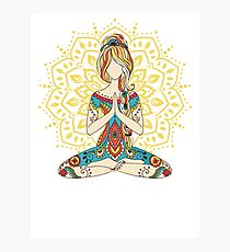 Yoga Om Chakras Mindfulness Meditation Zen 4 Photographic Print