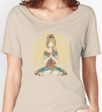 Yoga Om Chakras Mindfulness Meditation Zen 4 Women's Relaxed Fit T-Shirt
