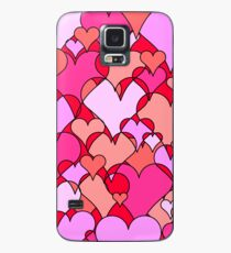 Pink collage hearts Case/Skin for Samsung Galaxy
