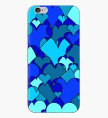 Blue collage hearts iPhone Case