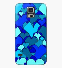 Blue collage hearts Case/Skin for Samsung Galaxy