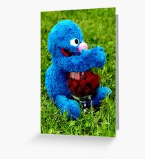 Selfish Grover Greeting Card