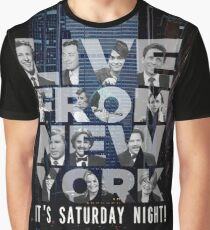 Live From New York, Saturday Night Live Graphic T-Shirt
