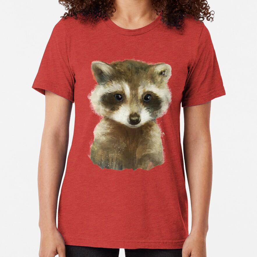 Little Raccoon Tri-blend T-Shirt