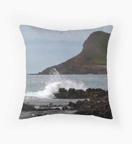 View From Mewslade Bay Throw Pillow