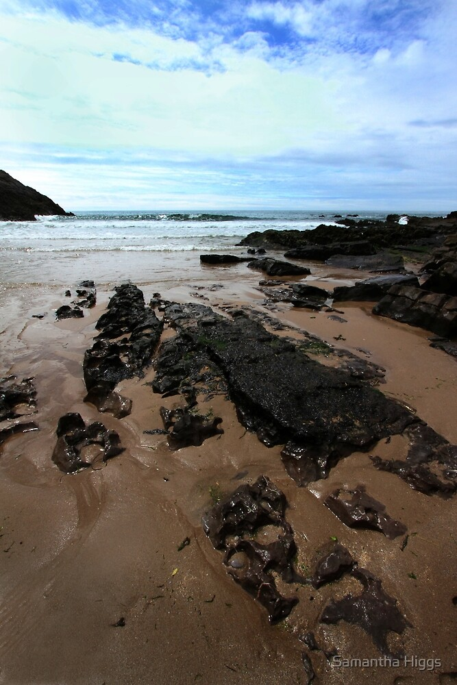 Rocks In Mewslade Bay - Wales by Samantha Higgs