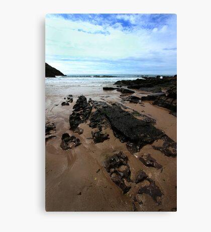Rocks In Mewslade Bay - Wales Canvas Print