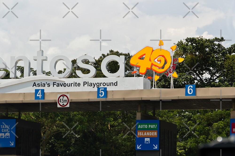 Entrance gate for Sentosa island in Singapore by ashishagarwal74