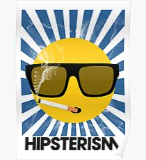 HIPSTERISM (SERIES) [blue/black] Poster