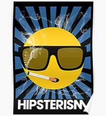 HIPSTERISM (SERIES) [blue/white] Poster
