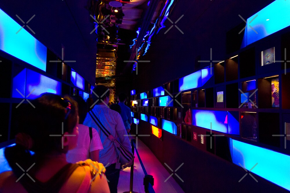 Colorful passage inside the Singapore Flyer by ashishagarwal74