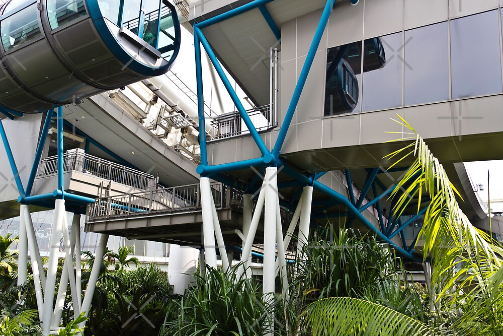 The area below the capsules of the Singapore Flyer by ashishagarwal74