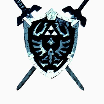 Legend of Zelda - Hylian Shield (LARGER VERSION) by LicencedBandit