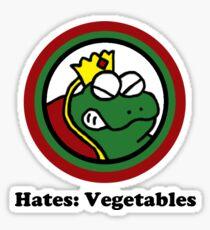 Hates: Vegetables Sticker