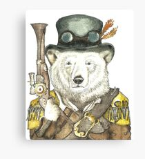 Polar Bear Warden Canvas Print