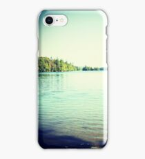 Lomography Photograph Lake Trees Blue Green  iPhone Case/Skin