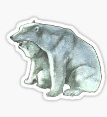 Polar Bear Mother and Cub Sticker