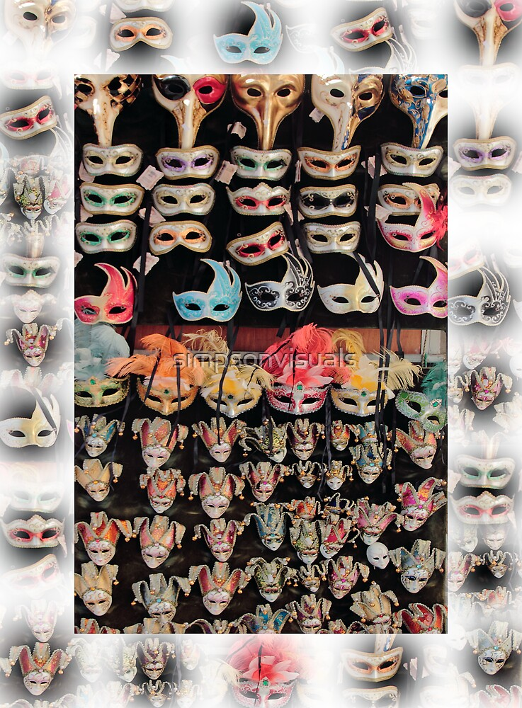 Italian Carnival Masquerade Masks by simpsonvisuals