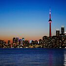 Toronto skyline at dusk by GuyWatson