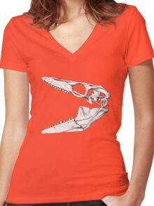 Eater of Molluscs Women's Fitted V-Neck T-Shirt