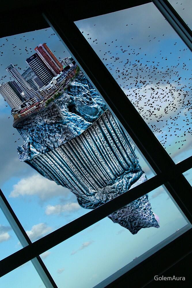 Floating Iceberg City by GolemAura
