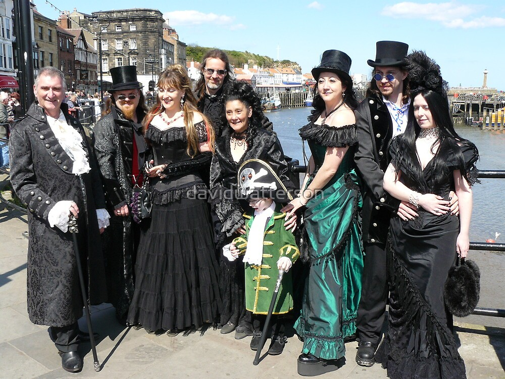 A well-dressed group of Goths in Whitby by davidwatterson