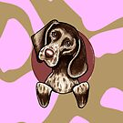 German Shorthaired Pointer Pink Camouflage by offleashart