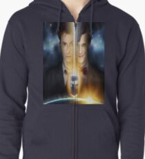 doctor who timelords 10 and 11 Split Zipped Hoodie