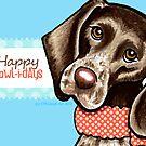 Christmas Blues GSP Happy Howlidays by offleashart