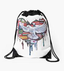 Peace by Jody Steel Drawstring Bag