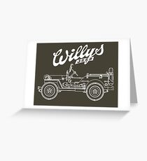 Willys-Overland MB 1941 - Mono V2 (Khaki) Greeting Card