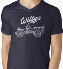 Willys-Overland MB 1941 - Mono V2 (Khaki) Men's V-Neck T-Shirt