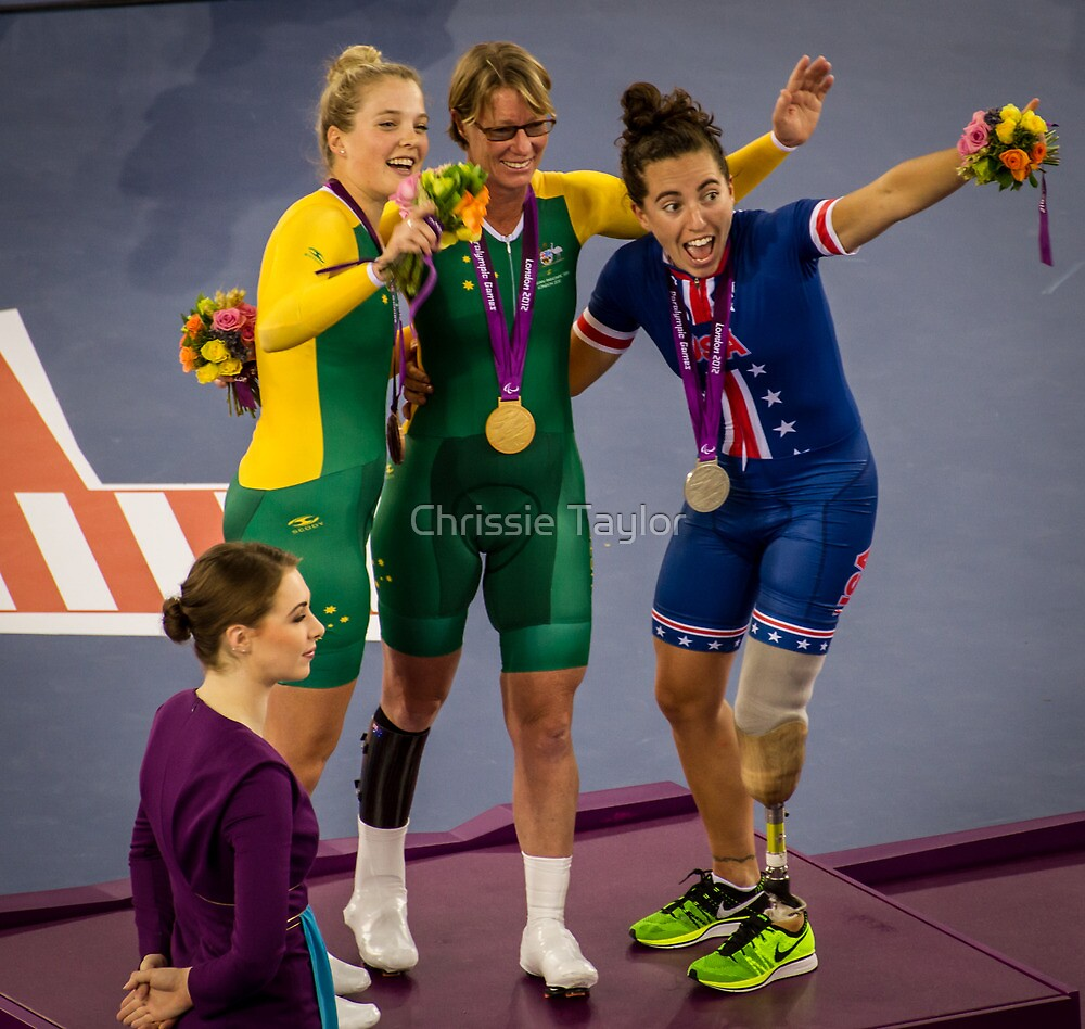 Megan Fisher Receiving Her Silver Medal by Chrissie Taylor