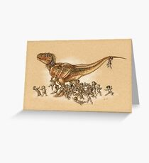 Everybody Loves T.rex Greeting Card