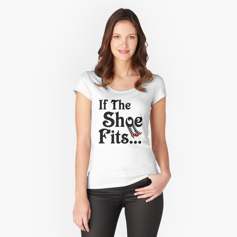 It's All About The Shoes -- Wizard of Oz Women's Fitted Scoop T-Shirt Front