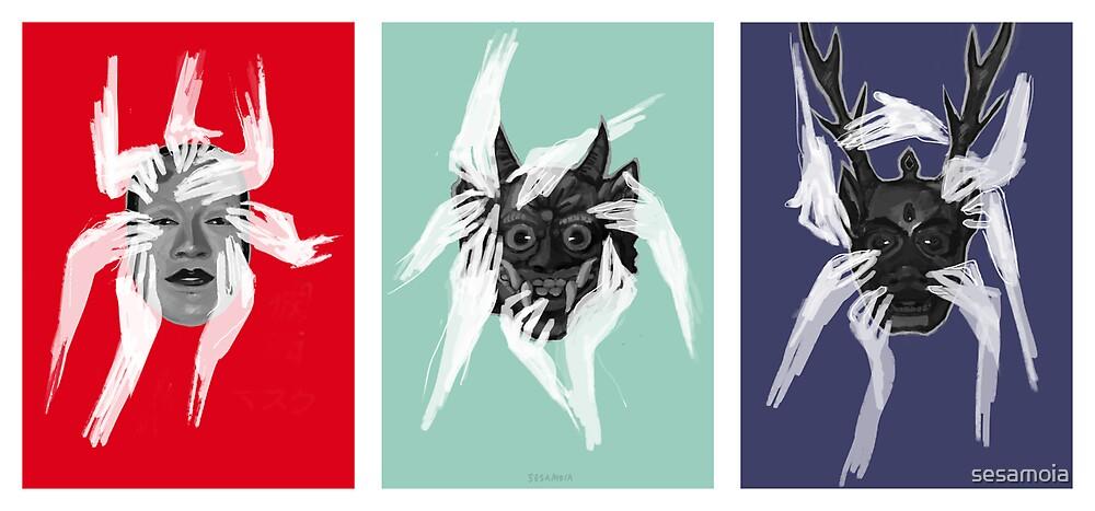 Mask Trio by sesamoia