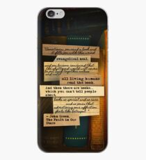 Thoughts From Books on Phones iPhone Case