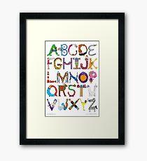 Children's Alphabet Framed Print