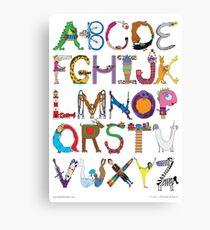 Children's Alphabet Canvas Print