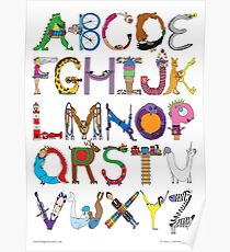 Children's Alphabet Poster